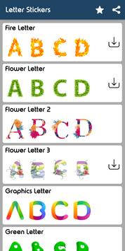 Letter WAStickerApp - Letter Stickers for Whatsapp screenshot 17
