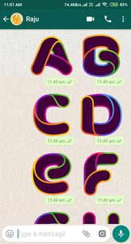 Letter WAStickerApp - Letter Stickers for Whatsapp screenshot 10