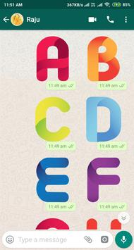 Letter WAStickerApp - Letter Stickers for Whatsapp screenshot 11