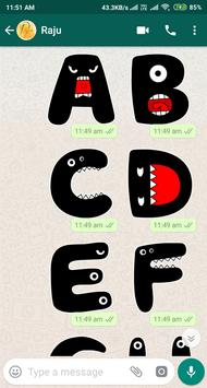 Letter WAStickerApp - Letter Stickers for Whatsapp screenshot 21