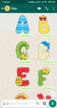 Letter WAStickerApp - Letter Stickers for Whatsapp screenshot 22