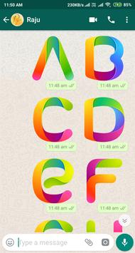 Letter WAStickerApp - Letter Stickers for Whatsapp screenshot 5