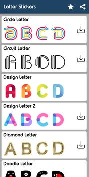 Letter WAStickerApp - Letter Stickers for Whatsapp screenshot 8