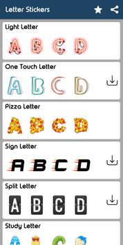 Letter WAStickerApp - Letter Stickers for Whatsapp screenshot 9