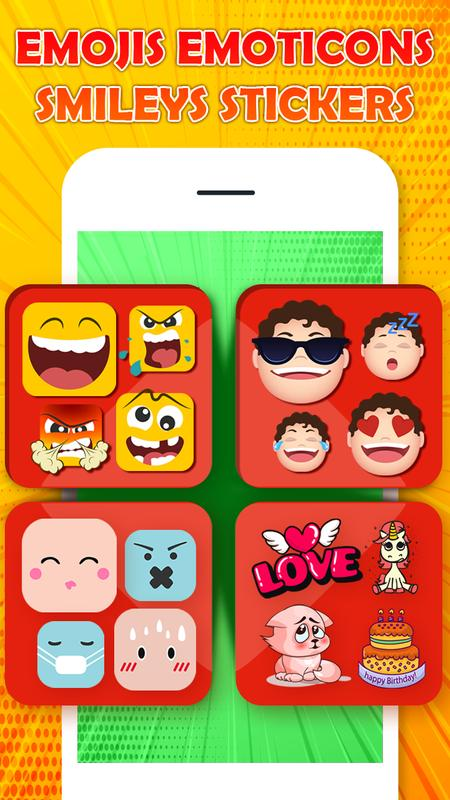 Chat Stickers Love Emoticons Emojis Smiley Poster