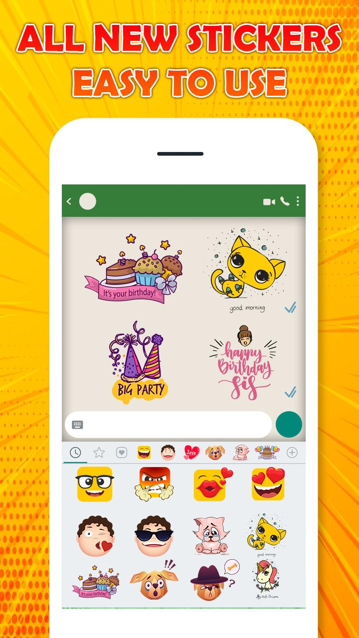 Chat Stickers Love Emoticons, Emojis, Smiley for Android