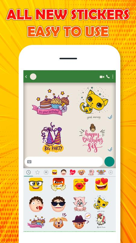 Chat Stickers Love Emoticons Emojis Smiley Screenshot 1