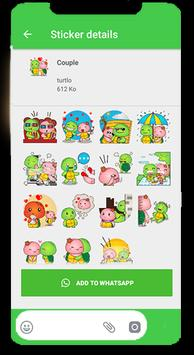 Turtle Funny Stickers for WhatsApp 2019 screenshot 4