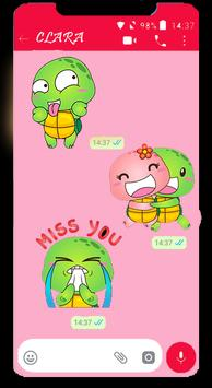 Turtle Funny Stickers for WhatsApp 2019 poster