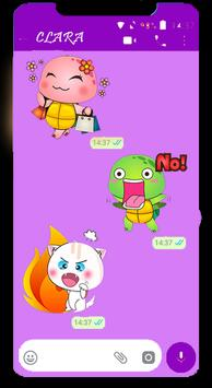 Turtle Funny Stickers for WhatsApp 2019 screenshot 1