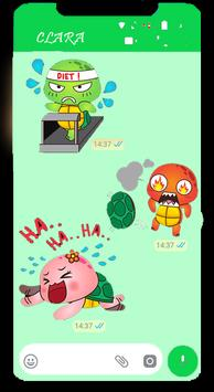 Turtle Funny Stickers for WhatsApp 2019 screenshot 2