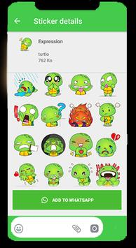 Turtle Funny Stickers for WhatsApp 2019 screenshot 3