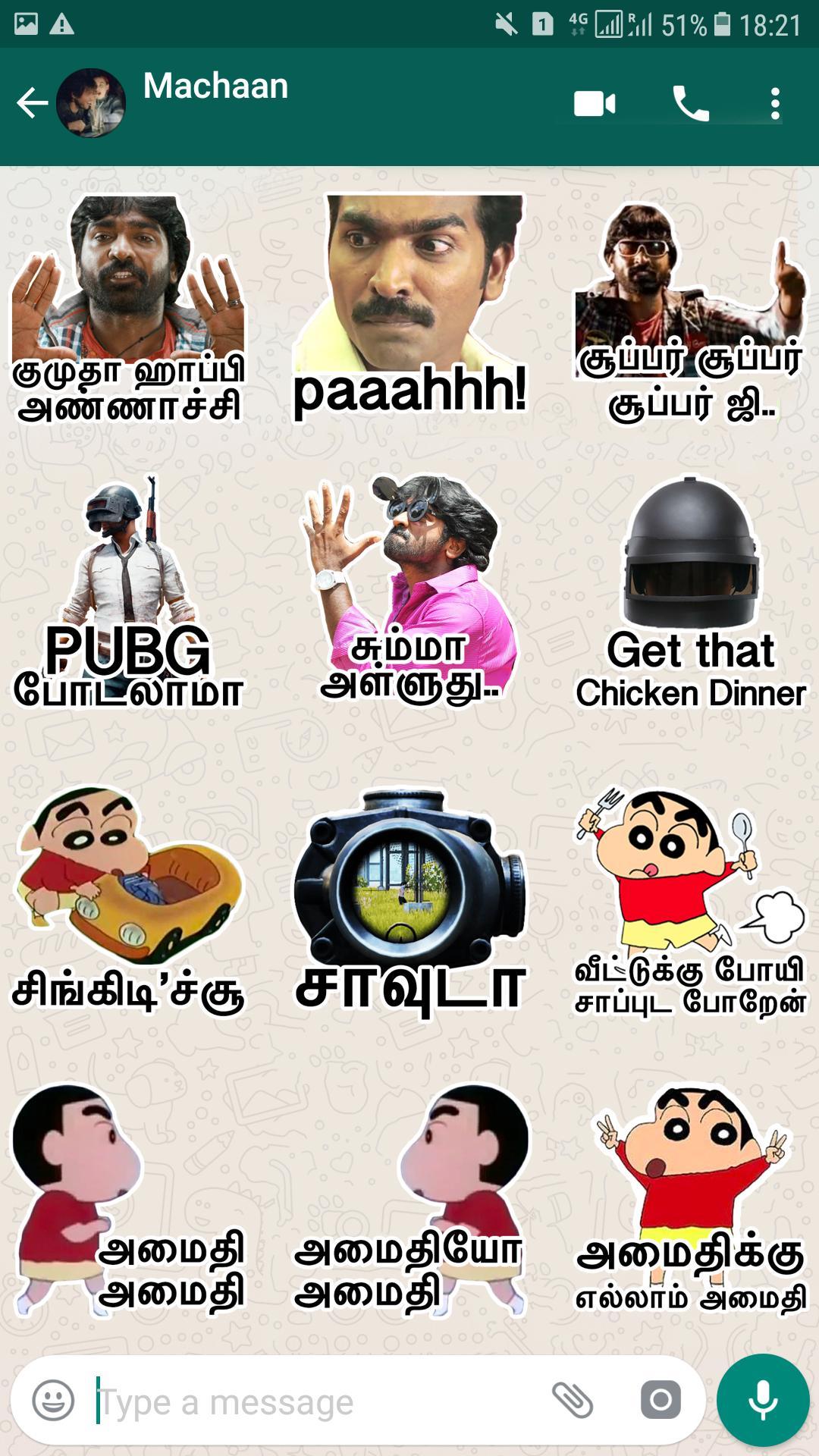 Tamilanda: Tamil stickers, WA Status WAStickerApps for