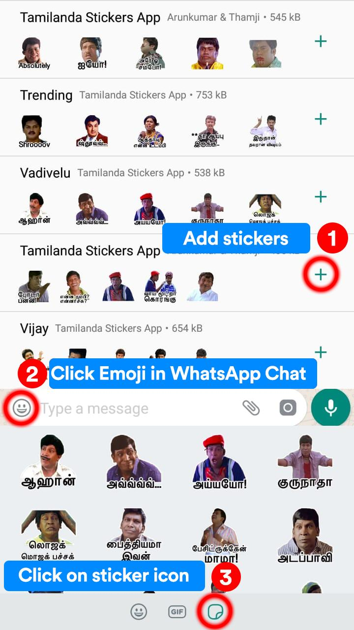 Tamilanda: Tamil stickers, WA Status WAStickerApps for