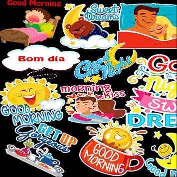 Good Day and Good Night Stickers WASTICKERAPP poster
