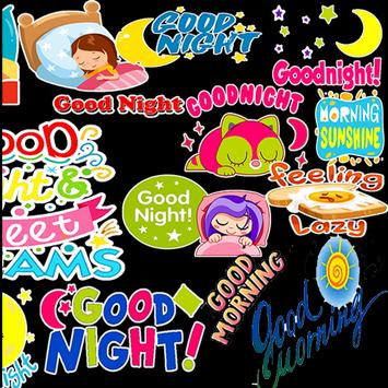 Good Day and Good Night Stickers WASTICKERAPP screenshot 1