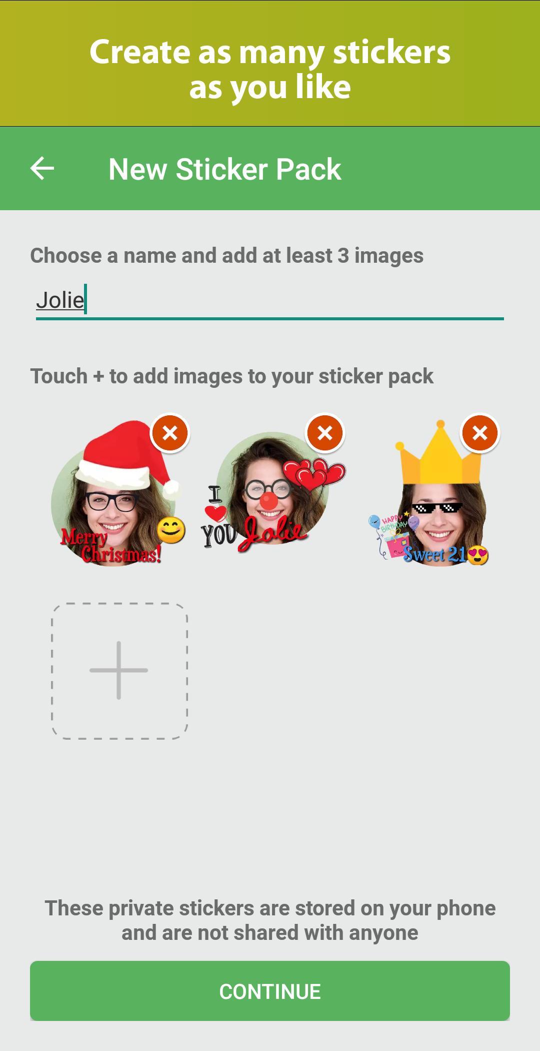 Download aplikasi buat android Sticker Maker