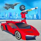 Stickman Robot Car Transformation icon