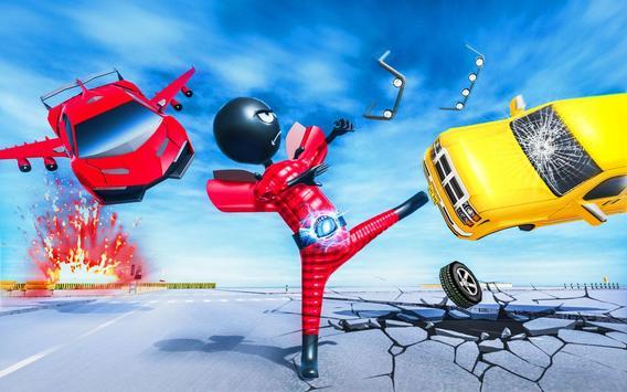 Stickman Robot Car Transformation poster