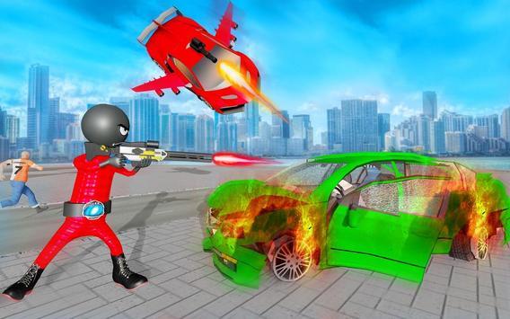 Stickman Robot Car Transformation screenshot 8