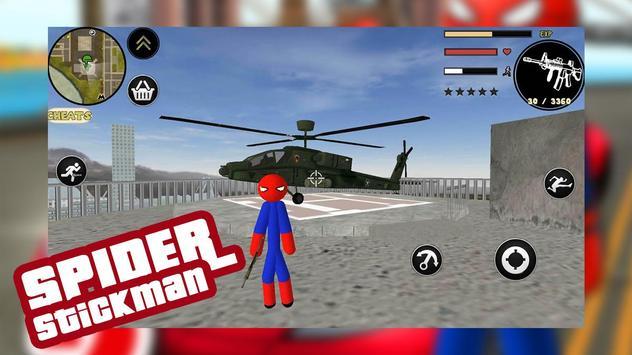 Spider Stickman Rope Hero Gang star mafia crime 2 screenshot 3