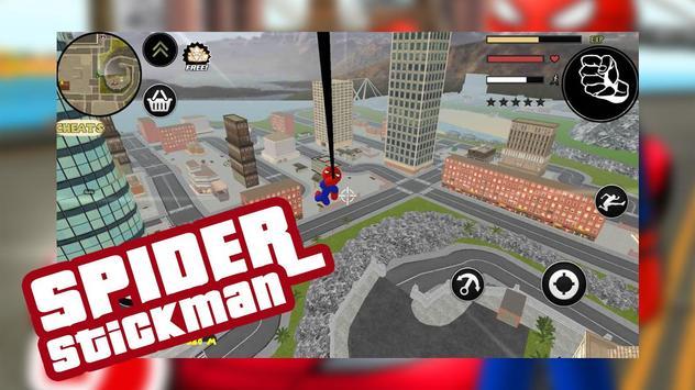 Spider Stickman Rope Hero Gang star mafia crime 2 poster