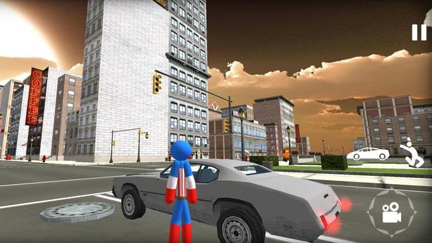 US Stickman Capitaine Rope Hero Gangster screenshot 2