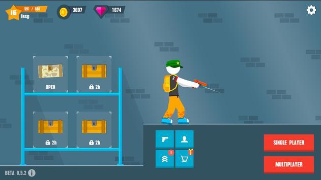 Stickman Battles: Online Shooter screenshot 5