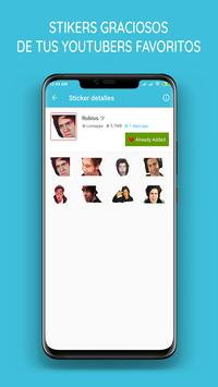 Stickers Youtubers para WhatsApp poster