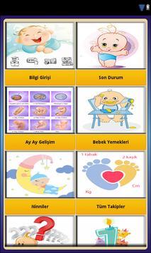 Bebek Takibi Bakımı Gelişimi screenshot 1