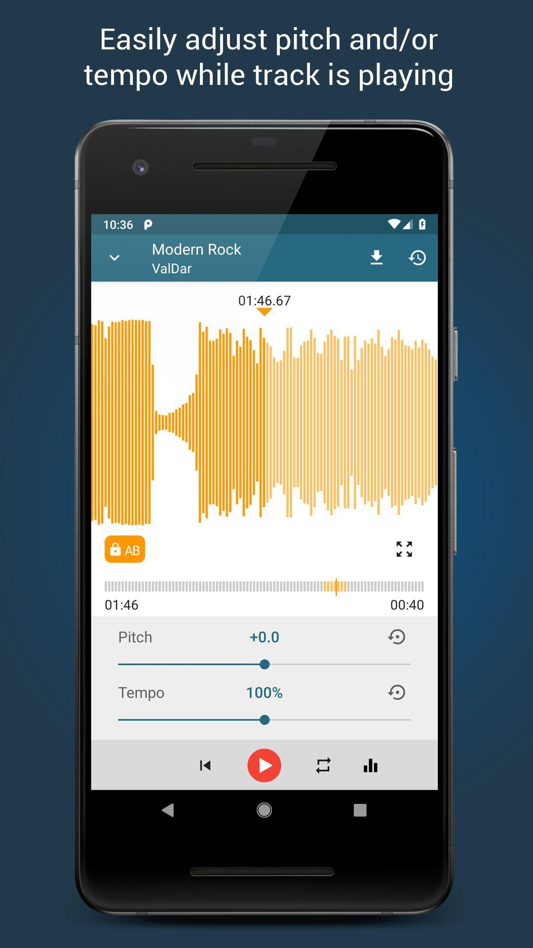 Music Editor Pitch and Speed Changer : Up Tempo for Android