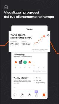 2 Schermata GPS Strava: corsa e ciclismo
