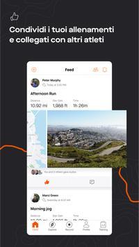 4 Schermata GPS Strava: corsa e ciclismo
