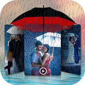 Rainy Video Maker With Music icon