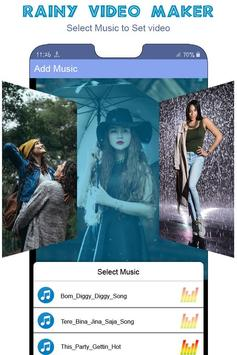 Rainy Video Maker With Music screenshot 4