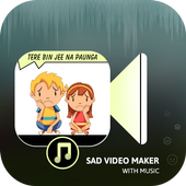 Sad Video Maker With Music icon