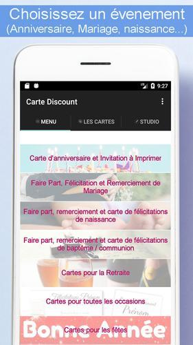 Android ǔ¨ã® Carte Discount Carte Et Faire Part A Imprimer Apk 'ダウンロード