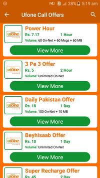All Ufone Network Packages 2019 screenshot 3