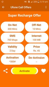 All Ufone Network Packages 2019 screenshot 4