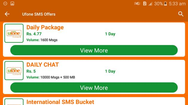 All Ufone Network Packages 2019 screenshot 6