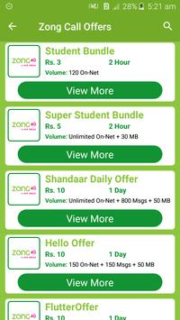 All Zong Network Packages 2019 screenshot 3