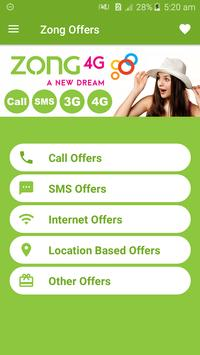 All Zong Network Packages 2019 screenshot 1