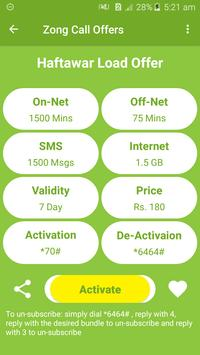All Zong Network Packages 2019 screenshot 4