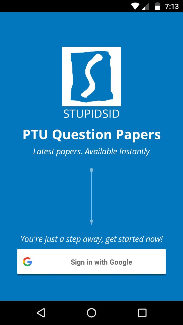 PTU Exam Question Papers - Stupidsid for Android - APK Download
