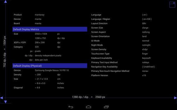 Screen Size / DPI and Dev Info screenshot 3