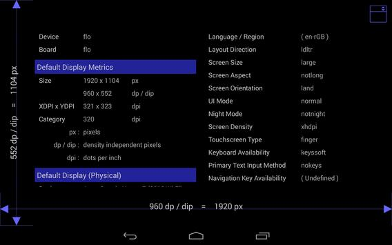 Screen Size / DPI and Dev Info screenshot 5