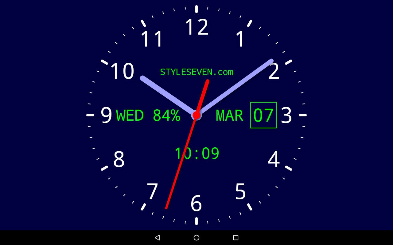 Analog Clock Live Wallpaper 7 Pro For Android Apk Download