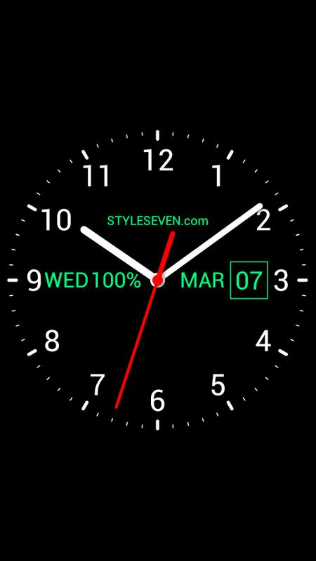 Analog Clock Live Wallpaper-7 for Android - APK Download