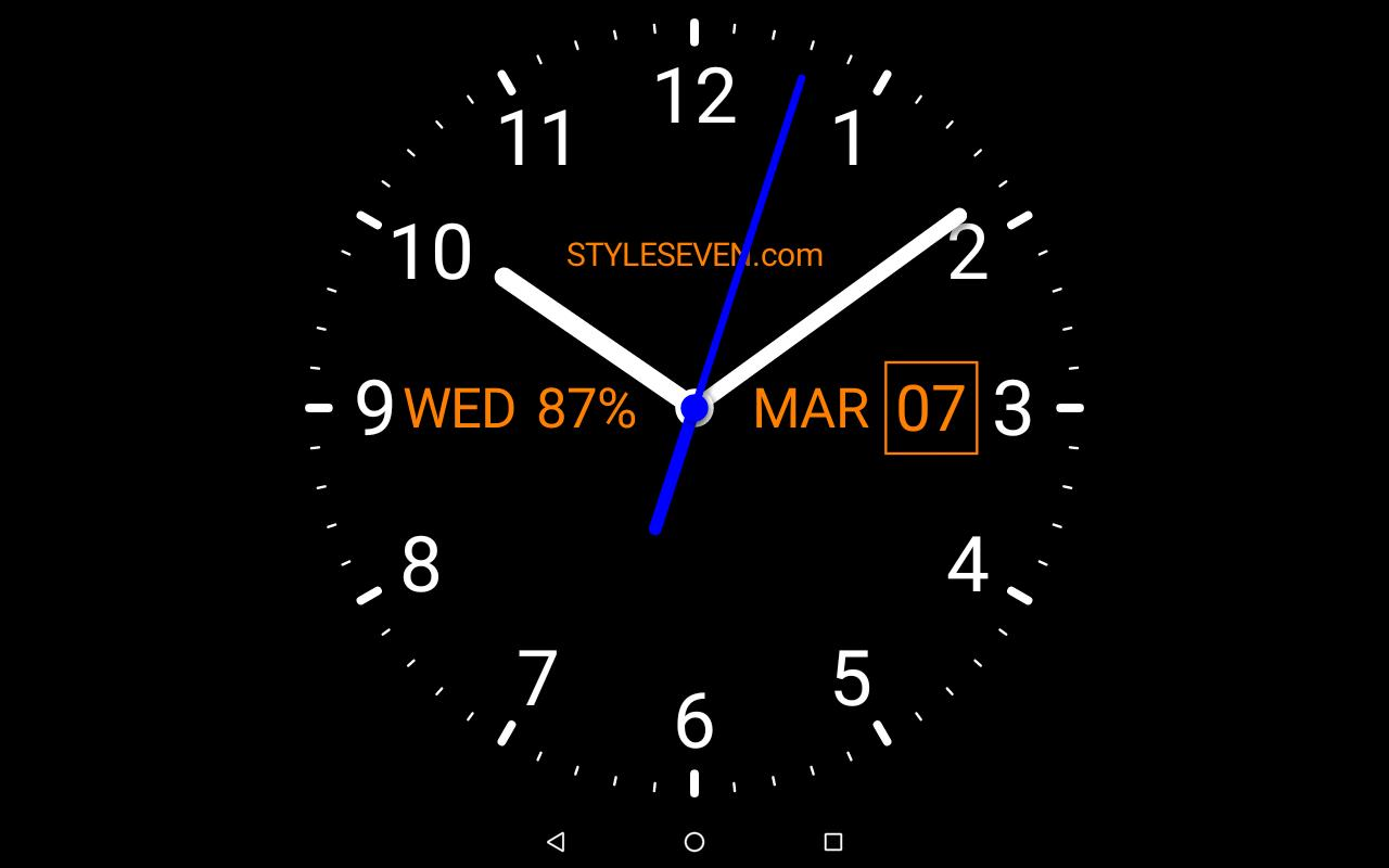 Analog Clock Live Wallpaper 7 For Android Apk Download