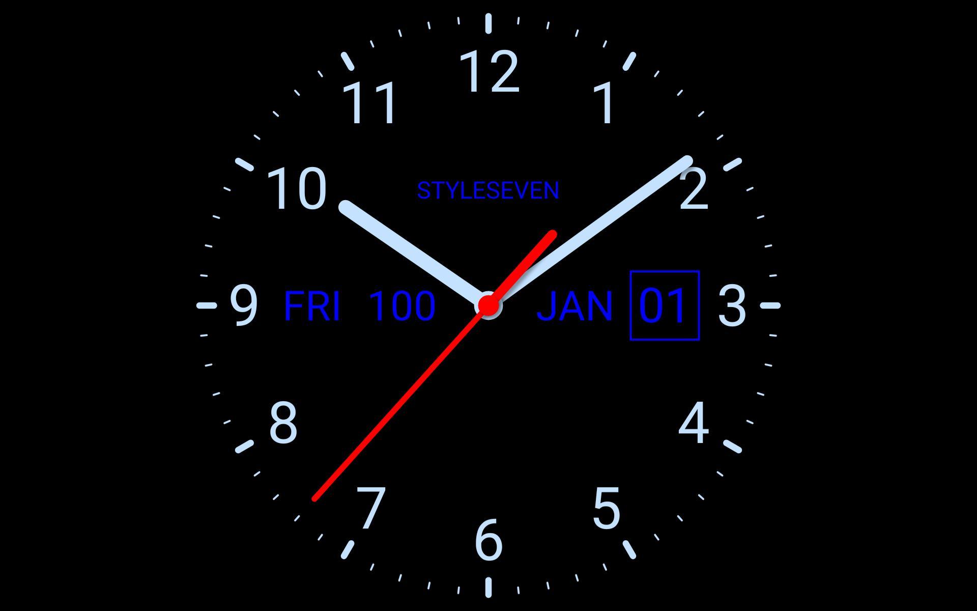 Analog Clock Live Wallpaper-7 for ...